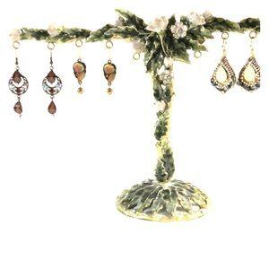 Set of three pair of costume earrings.